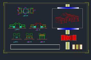 نمونه طراحی سردر (اتوکد) به صورت رایگان - فروشگاه ایرانیان شهرساز