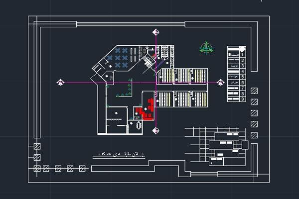 فایل اتوکد طراحی دانشگاه به صورت رایگان - فروشگاه ایرانیان شهرساز