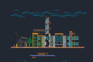 فایل اتوکد طراحی ایستگاه آتش نشانی به صورت رایگان - فروشگاه ایرانیان شهرساز