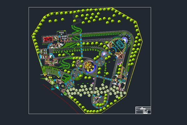 طراحی اتوکد پارک به صورت کاملا رایگان - فروشگاه ایرانیان شهرساز