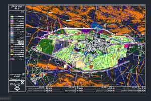 نقشه کاربری اراضی محدوده و حریم شهر آباده - فروشگاه ایرانیان شهرساز