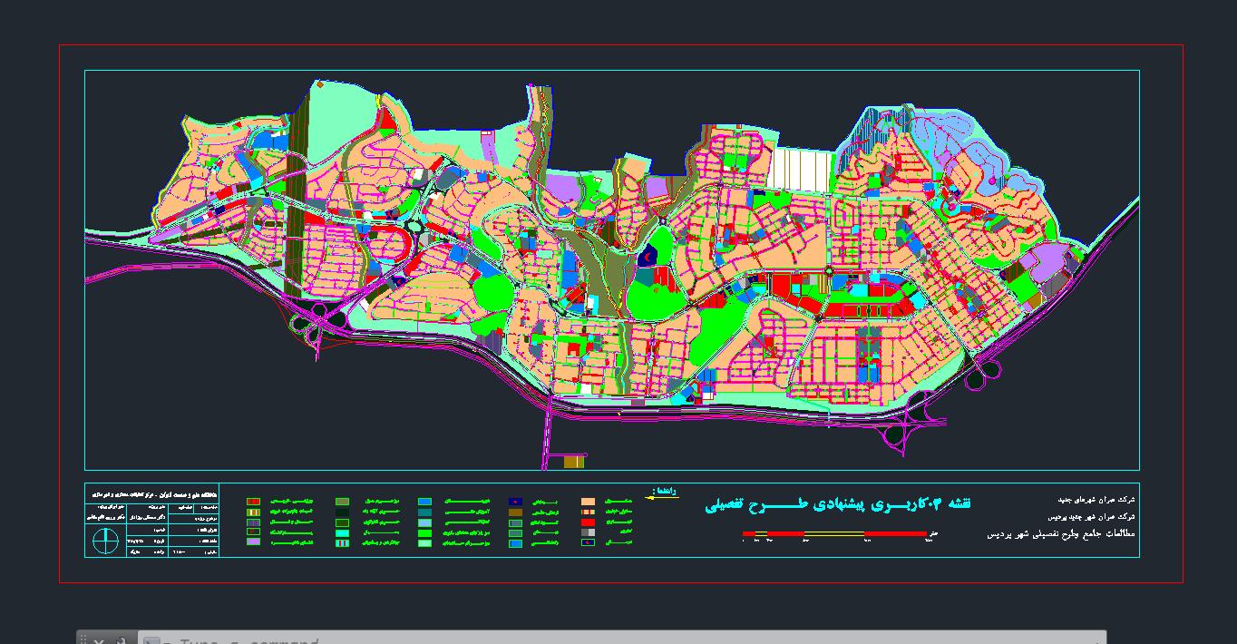 فایل اتوکدی شهر جدید پردیس به صورت رایگان - فروشگاه ایرانیان شهرساز