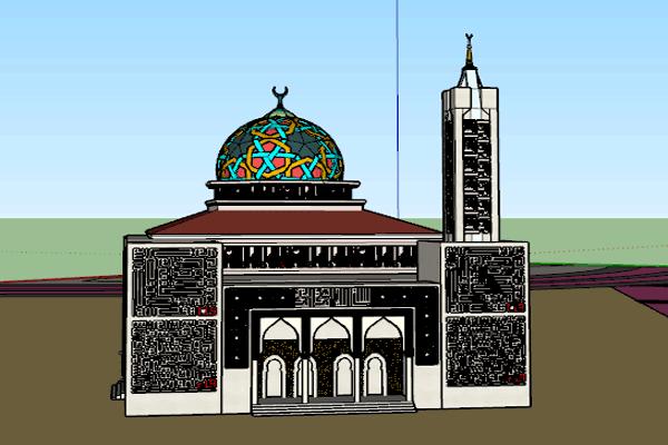 فایل آبجکت مسجد در اسکچاپ به صورت رایگان - فروشگاه ایرانیان شهرساز