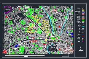 فایل اتوکد میدان تجریش شهر تهران به صورت رایگان- فروشگاه ایرانیان شهرساز