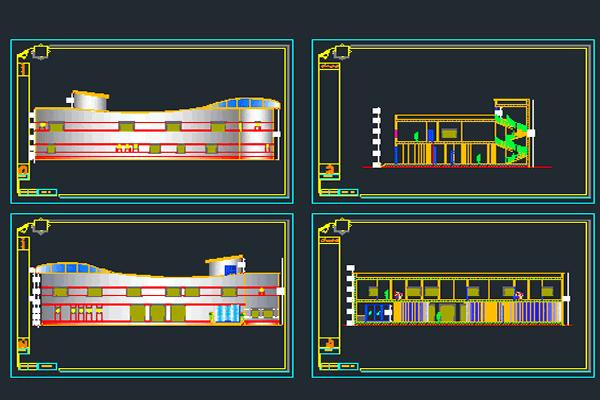 فایل اتوکد نقشه طراحی هتل به صورت رایگان - فروشگاه ایرانیان شهرساز