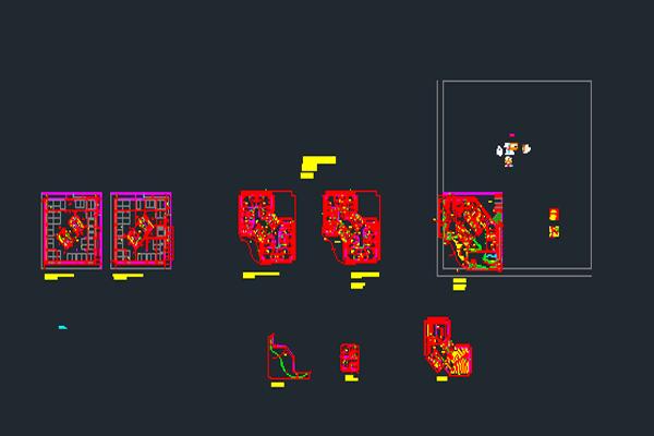 نقشه اتوکدی طراحی پلان هتل به صورت رایگان - فروشگاه ایرانیان شهرساز