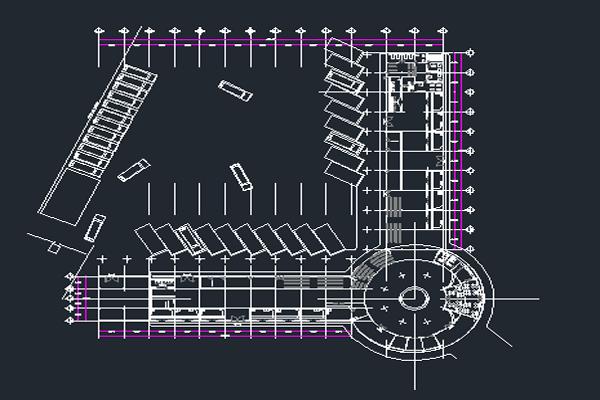 نقشه اتوکد ایستگاه اتوبوس به صورت رایگان - فروشگاه ایرانیان شهرساز