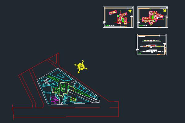 نقشه اتوکد طراحی بیمارستان به صورت رایگان - فروشگاه ایرانیان شهرساز
