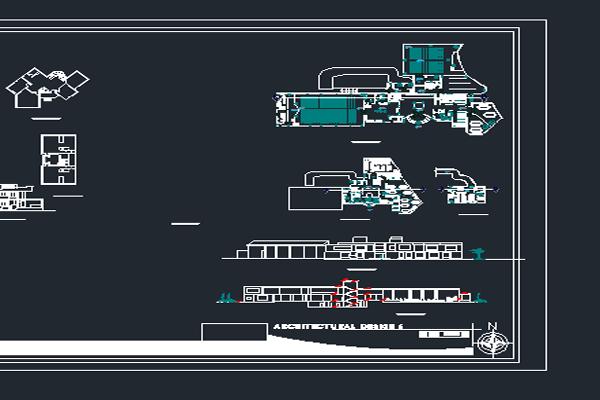 نقشه اتوکد طراحی کافی شاپ به صورت رایگان - فروشگاه ایرانیان شهرساز