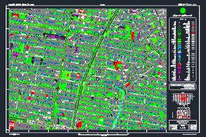 نقشه اتوکد محله داوودیه شهر تهران به صورت رایگان - فروشگاه ایرانیان شهرساز
