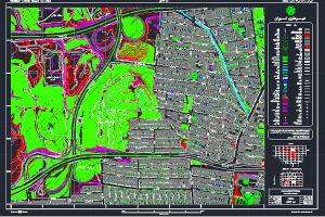 نقشه اتوکد محله سید خندان تهران به صورت رایگان - فروشگاه ایرانیان شهرساز