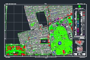 نقشه اتوکد پارک لاله تهران به صورت رایگان - فروشگاه ایرانیان شهرساز