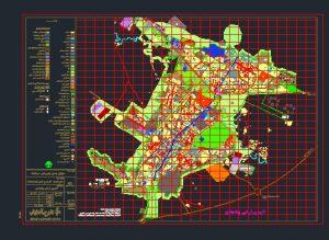 نقشه کاربری اراضی شهر کرمانشاه به صورت رایگان - فروشگاه ایرانیان شهرساز
