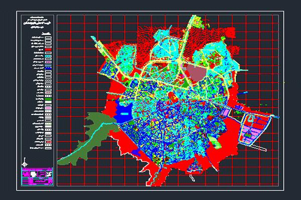 نقشه اتوکد طرح تفصیلی همدان به صورت رایگان - فروشگاه ایرانیان شهرساز