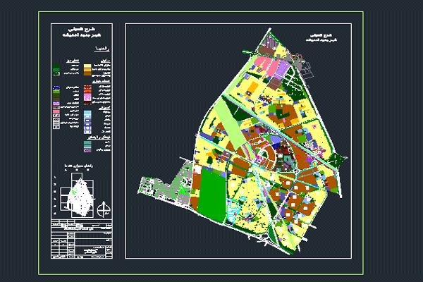 اتوکد طرح تفصیلی شهر جدید اندیشه به صورت رایگان - فروشگاه ایرانیان شهرساز