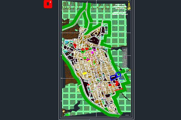 اتوکد طرح تفصیلی نورآباد لرستان به صورت رایگان - فروشگاه ایرانیان شهرساز