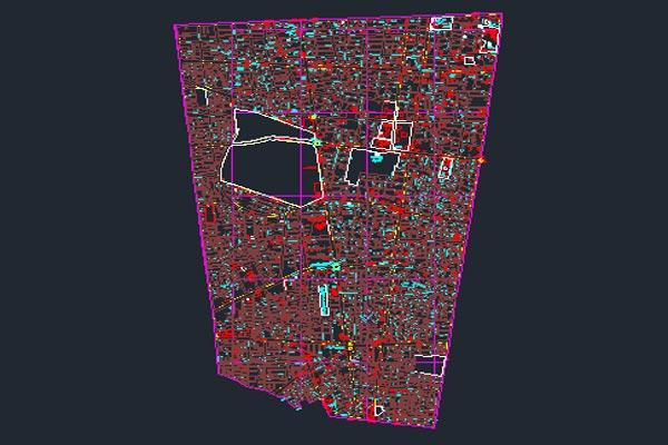اتوکد نقشه منطقه ۱۱ شهر تهران به صورت رایگان - فروشگاه ایرانیان شهرساز