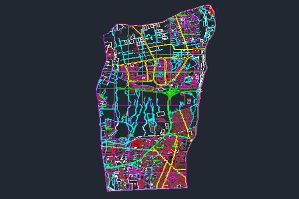 اتوکد نقشه منطقه ۲ شهر تهران به صورت رایگان - فروشگاه ایرانیان شهرساز