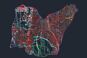 اتوکد نقشه منطقه ۳ شهر تهران به صورت رایگان - فروشگاه ایرانیان شهرساز