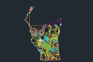 اتوکد نقشه منطقه ۵ شهر تهران به صورت رایگان - فروشگاه ایرانیان شهرساز