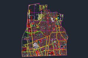 اتوکد نقشه منطقه ۶ شهر تهران به صورت رایگان - فروشگاه ایرانیان شهرساز