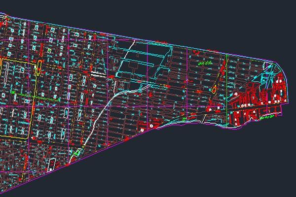 اتوکد نقشه منطقه ۸ شهر تهران به صورت رایگان - فروشگاه ایرانیان شهرساز