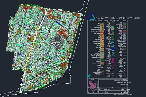 اتوکد طرح تفصیلی منطقه 3 اصفهان به صورت رایگان - فروشگاه ایرانیان شهرساز