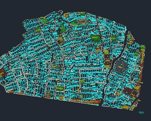 اتوکد طرح تفصیلی منطقه 8 اصفهان به صورت رایگان - فروشگاه ایرانیان شهرساز