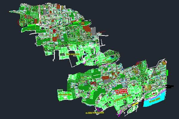 اتوکد طرح تفصیلی منطقه 9 اصفهان به صورت رایگان - فروشگاه ایرانیان شهرساز