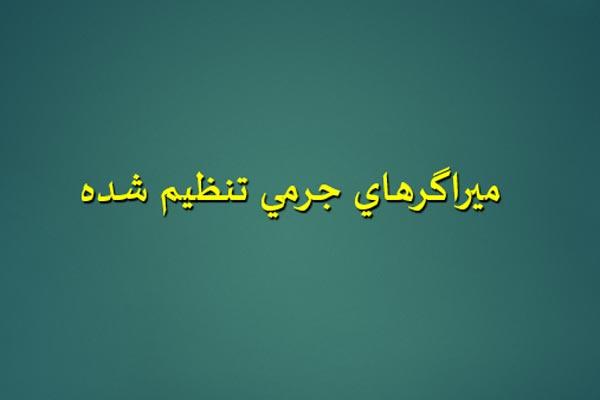 پاورپوینت ميراگرهاي جرمي تنظيم شده به صورت رایگان - فروشگاه ایرانیان شهرساز