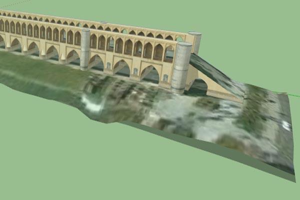فایل اسکچاپ سی و سه پل اصفهان به صورت کامل - فروشگاه ایرانیان شهرساز