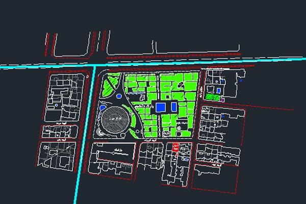 نقشه اتوکد چهار راه ولیعصر تهران به صورت رایگان - فروشگاه ایرانیان شهرساز