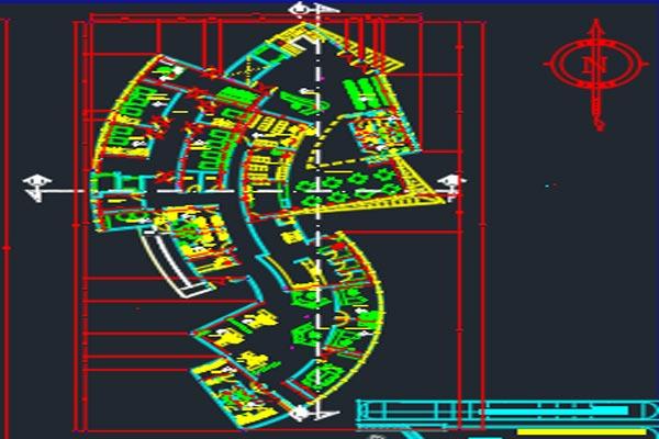 دانلود اتوکد طراحی بیمارستان 1 به صورت رایگان - فروشگاه ایرانیان شهرساز
