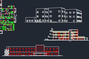 دانلود اتوکد طراحی بیمارستان 3 به صورت رایگان - فروشگاه ایرانیان شهرساز