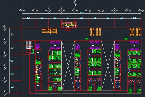 دانلود اتوکد طراحی بیمارستان 4 به صورت رایگان - فروشگاه ایرانیان شهرساز