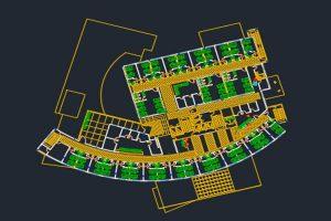 دانلود اتوکد طراحی بیمارستان 5 به صورت رایگان - فروشگاه ایرانیان شهرساز
