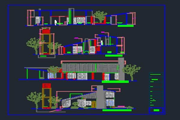 دانلود اتوکد طراحی ساختمان مسکونی 1 - فروشگاه ایرانیان شهرساز