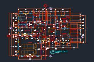 دانلود اتوکد طراحی ساختمان مسکونی 3 - فروشگاه ایرانیان شهرساز