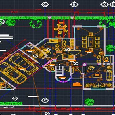 دانلود اتوکد طراحی ساختمان مسکونی 4 - فروشگاه ایرانیان شهرساز