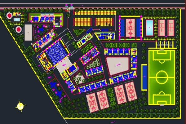اتوکد طراحی دانشکده شماره یک به صورت رایگان - فروشگاه ایرانیان شهرساز