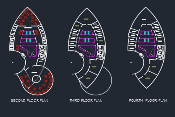 اتوکد طراحی مرکز خرید شماره شش رایگان - فروشگاه ایرانیان شهرساز