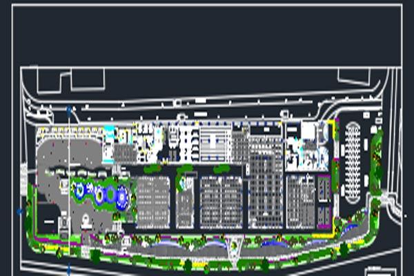 اتوکد طراحی مرکز خرید شماره چهار رایگان - فروشگاه ایرانیان شهرساز