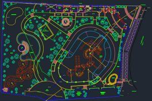 اتوکد طراحی پارک آبی شماره دو رایگان - فروشگاه ایرانیان شهرساز