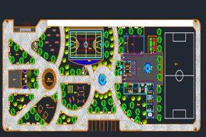 اتوکد طراحی پارک شهری شماره شش به صورت رایگان - فروشگاه ایرانیان شهرساز