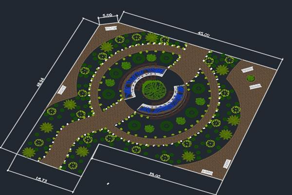 اتوکد طراحی پارک شهری شماره چهار رایگان - فروشگاه ایرانیان شهرساز