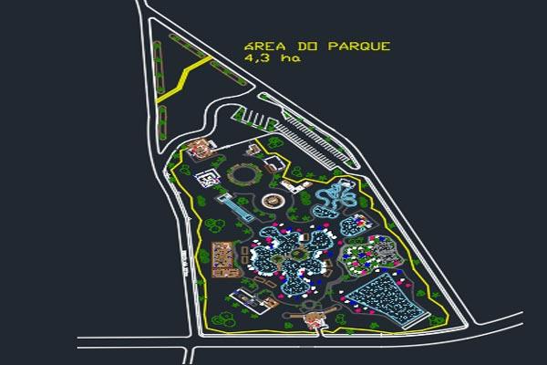 دانلود اتوکد طراحی پارک آبی شماره یک - فروشگاه ایرانیان شهرساز