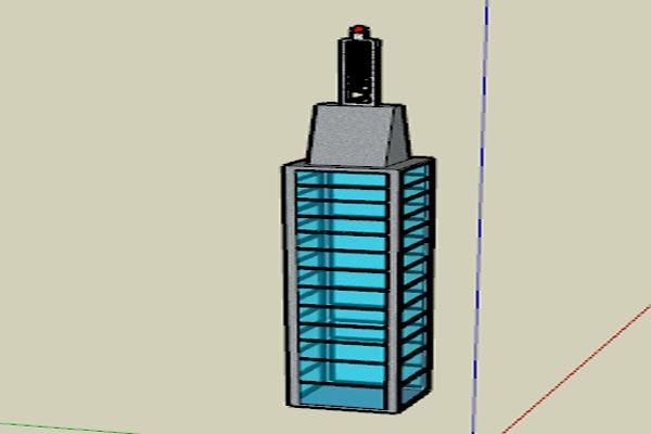 فایل اسکچاپ برج شماره یک به صورت رایگان - فروشگاه ایرانیان شهرساز