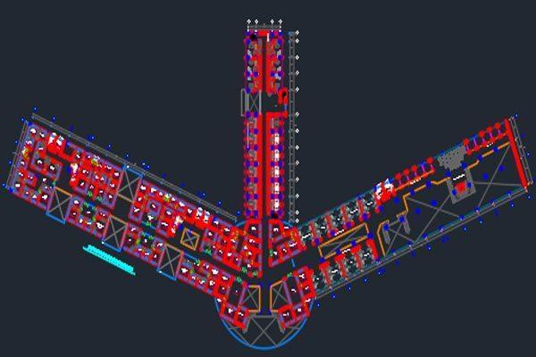 اتوکد طراحی فرودگاه شماره دو به صورت رایگان - فروشگاه ایرانیان شهرساز