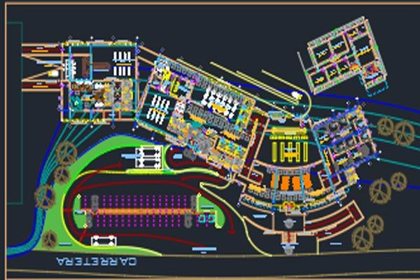 اتوکد طراحی فرودگاه شماره شش به صورت رایگان - فروشگاه ایرانیان شهرساز