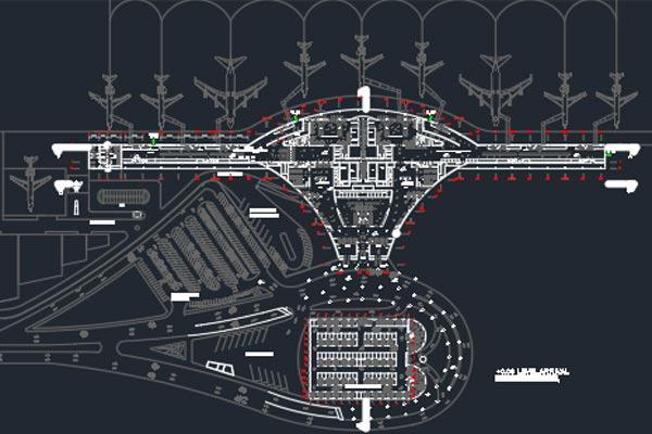 اتوکد طراحی فرودگاه شماره نه به صورت رایگان - فروشگاه ایرانیان شهرساز